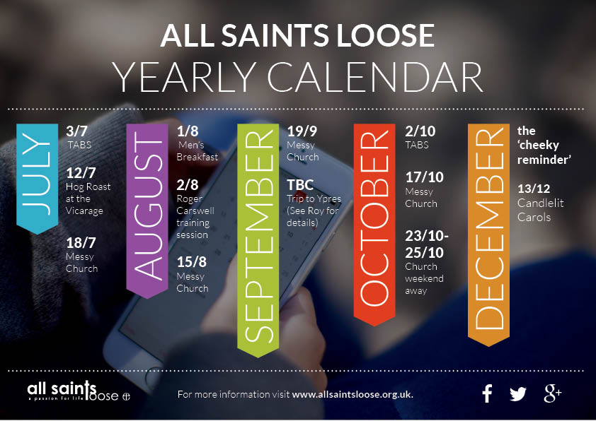 events flyer design for All Saints Loose