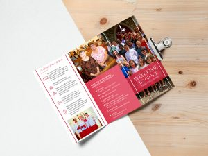 bright and simple tri-fold brochure design for Grace Episcopal Church of Ocala