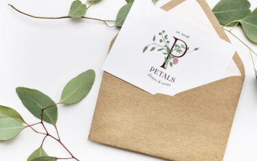 final logo design for Petals, Flowers and Events in Macon, Georgia