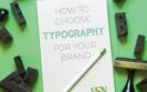 white book showing title: How to choose typography for your brand